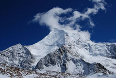 The snow mountain of Konka Risumgongba Stock Image