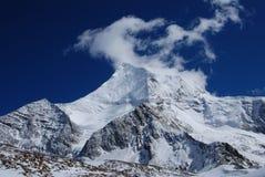 The snow mountain of Konka Risumgongba Stock Image