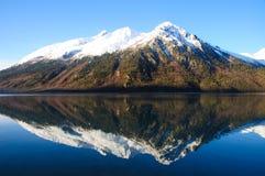 Snow Mountain and Lake Royalty Free Stock Photos