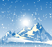 Snow Mountain. Landscape background with snowy snow mountain Royalty Free Stock Photo