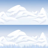 Snow mountain landscape Stock Photo