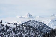 Snow mountain landscape Stock Photos