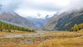 Snow mountain landscape in Samedan Royalty Free Stock Photo