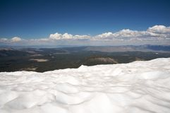 Snow mountain in Mammoth Royalty Free Stock Photos