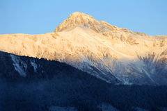 Snow mountain in the morning Stock Photography