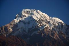 Snow Mountain in the morning Stock Photos