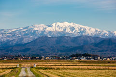 Snow mountain. Mountains snow ishikawa komatsu japen royalty free stock photography