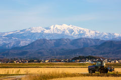 Snow mountain. Mountains snow ishikawa komatsu japen royalty free stock photo