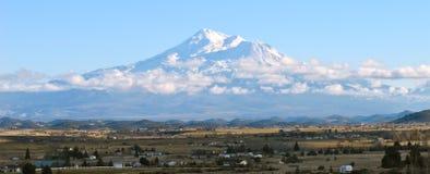 Snow mountain near highway I5 california Stock Photo