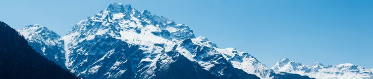 Snow mountain in North Sikkim. India stock image