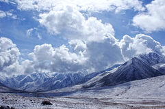 The snow Mountain in the pamirs Stock Photo