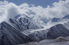 The snow Mountain in the pamirs Royalty Free Stock Image