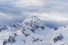 Snow on Mountain Peak Background Royalty Free Stock Images