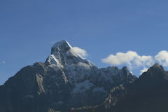 Snow mountain peak. The high altitude mountain peak Royalty Free Stock Photos