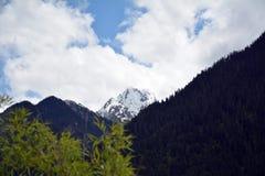 Snow mountain peak Royalty Free Stock Photo
