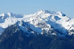Snow mountain peaks Royalty Free Stock Photos