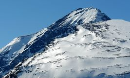 Snow mountain peaks royalty free stock photos