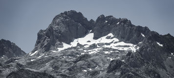 Snow and mountain peaks Royalty Free Stock Image