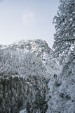 Snow Mountain peaks Stock Image