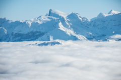 Snow mountain. This is a photo of  snow mountain in Switzerland Royalty Free Stock Photos