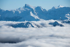 Snow mountain. This is a photo of  snow mountain in Switzerland Royalty Free Stock Photography