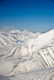 Snow Mountain Range royalty free stock images