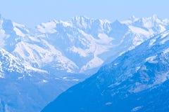 Snow Mountain Range Landscape Stock Photo