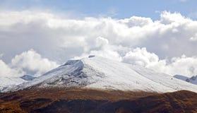 Snow Mountain Range Landscape Stock Images