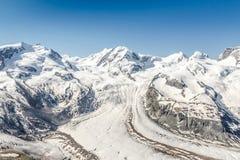 Snow Mountain Range Landscape at Alps Region, Switzerland Stock Photography