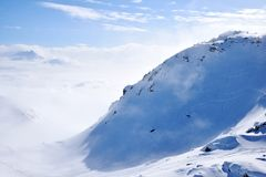 Snow Mountain Range Landscape in Austria Royalty Free Stock Photo