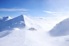 Snow Mountain Range Landscape in Austria Royalty Free Stock Image