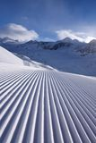 Snow Mountain Range Landscape in Italy. Snow Mountain Range Landscape in Val Senales skiing resort, Italy royalty free stock images