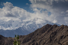 Snow Mountain Range, Leh Stock Images