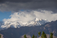 Snow Mountain Range, Leh Stock Image
