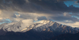 Snow Mountain Range, Leh India Royalty Free Stock Photo