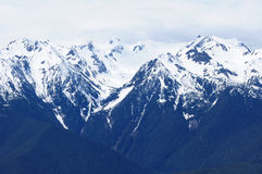 Snow mountain ridge stock photography
