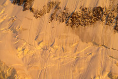 Snow mountain ridge in Alps at sunset Royalty Free Stock Photo
