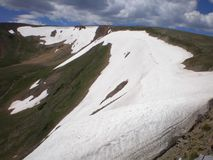 Snow on Mountain Ridge at Continental Divide, Colorado royalty free stock image