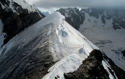 Snow mountain ridge stock image