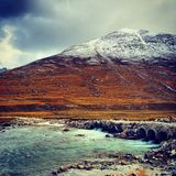 Snow. The snow-mountain and the river inTibet Royalty Free Stock Image