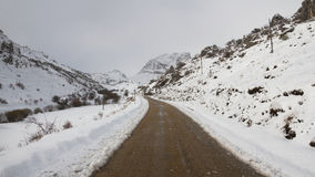Snow Mountain Road Royalty Free Stock Images