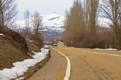 Snow Mountain Road Royalty Free Stock Photos