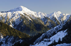 Snow mountain scenic in winter Stock Image