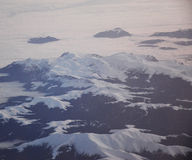 Snow mountain from plane Royalty Free Stock Photography