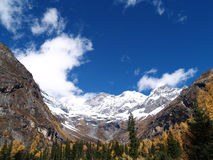 Snow Mountain - Shuang Qiao Valley Stock Image