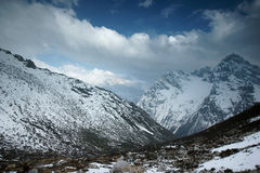 Snow mountain in sichuan of china Stock Images