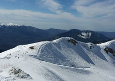 Snow mountain, ski, winter landscape, Sochi, Russia Royalty Free Stock Images