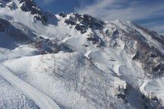 Snow mountain, ski, winter landscape, Sochi, Russia Stock Photography