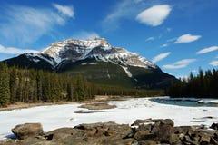 Snow mountain and sky Stock Photo