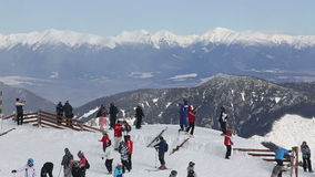 Snow mountain Slovakia ski winter Jasna Europa Stock Photos